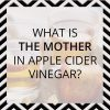What is the mother in apple cider vinegar